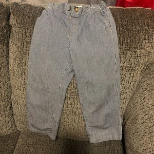 Children place boys strip pants
